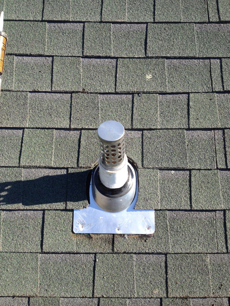 Flange Repair After From Sunrise Roofing Amp Chimney
