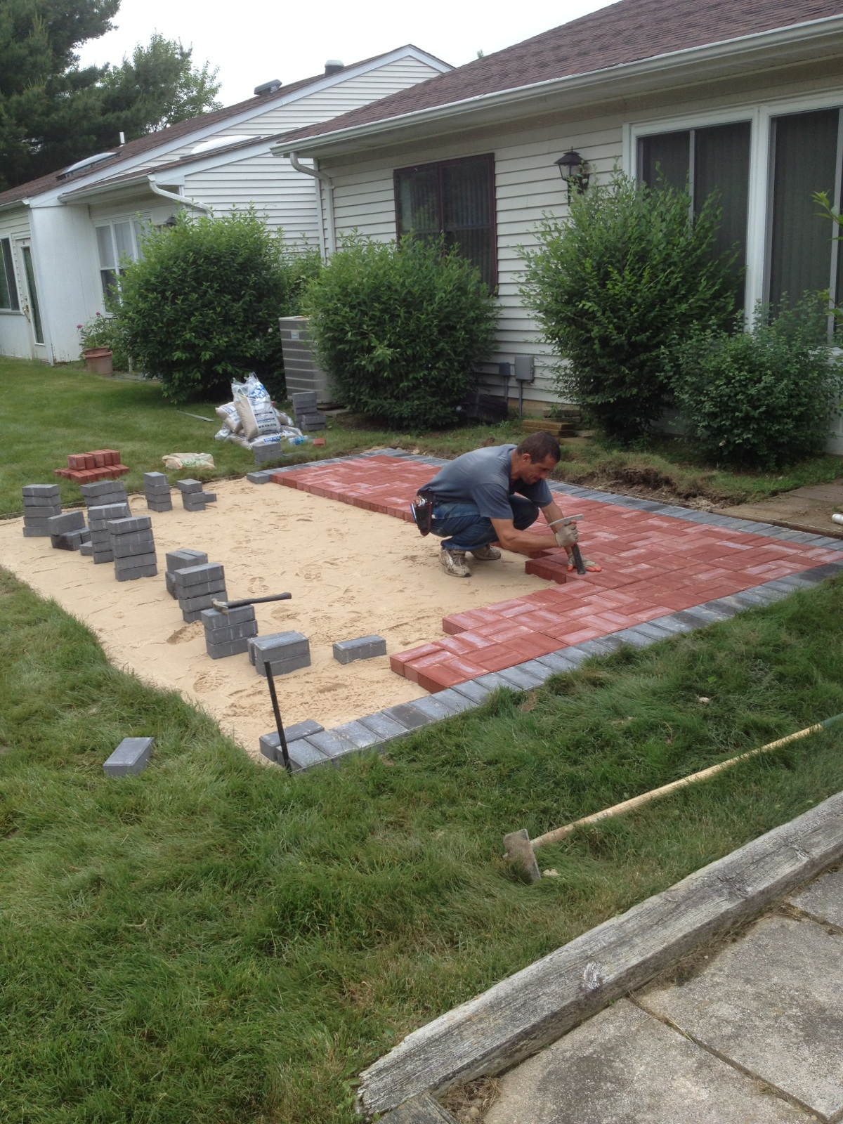Exceptional Masonry Patio Before ...