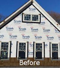 Before Cedar Shake Siding on Long Island | Sunrise Roofing & Chimney