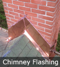 Concrete chimney flashing by Sunrise Roofing and Chimney in Long Island NY