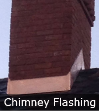 Copper Chimney Flashing by Sunrise Roofing and Chimney
