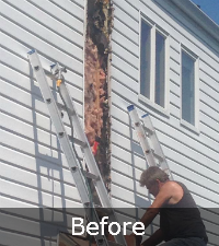 Chimney Rebuild by Sunrise Roofing and Molding in Suffolk County NY