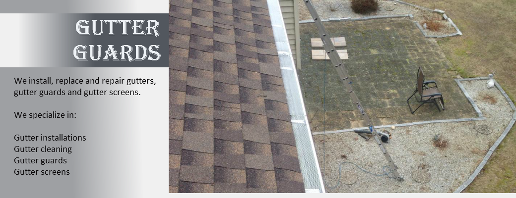 gutter guard / screen installation and repair on long island