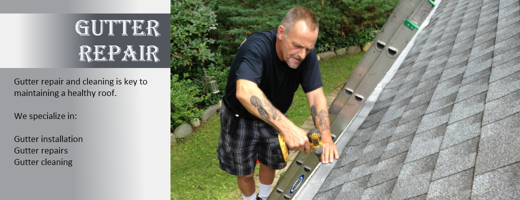gutter screens being installed and repaired on long island