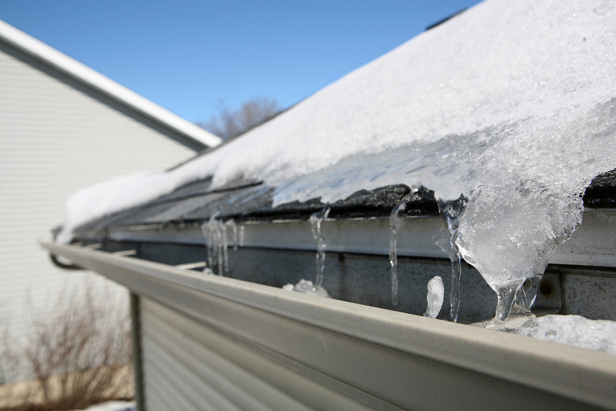 ice gutter damage on long island