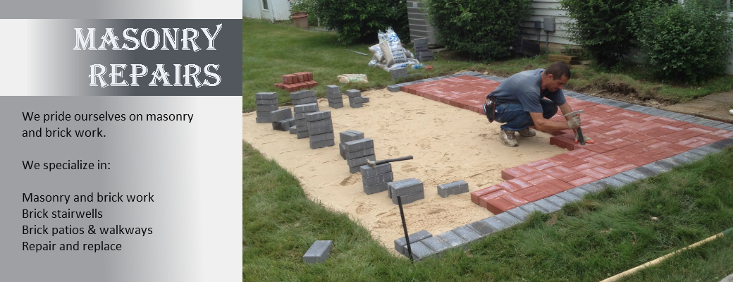 masonry repair and replacement patio work on long island