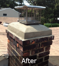 chimney-crown-after - Sunrise Roofing and Chimney