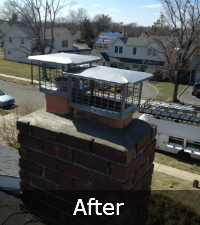 chimney-crown-project-after - Sunrise Roofing and Chimney