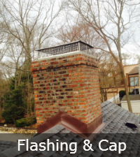 Chimney flashing and cap by Sunrise Roofing and Chimney in Long Island NY