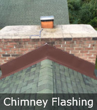 Chimney flashing repair by Sunrise Roofing and Chimney in Long Island NY