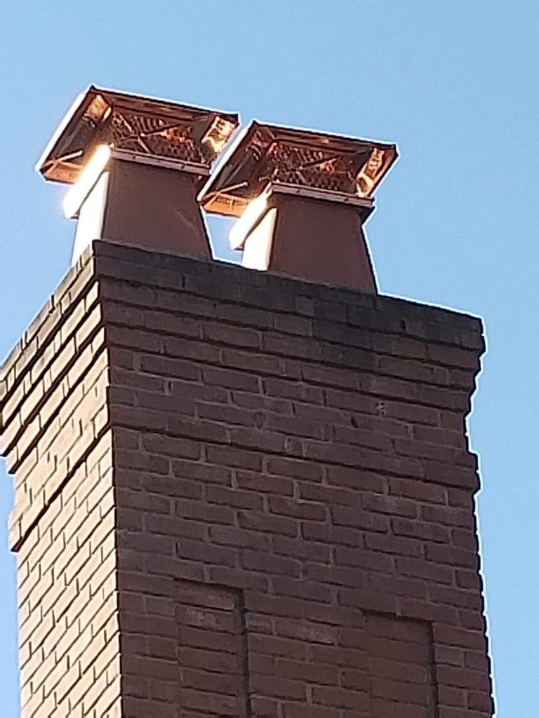 Copper Chimney Cap Installation