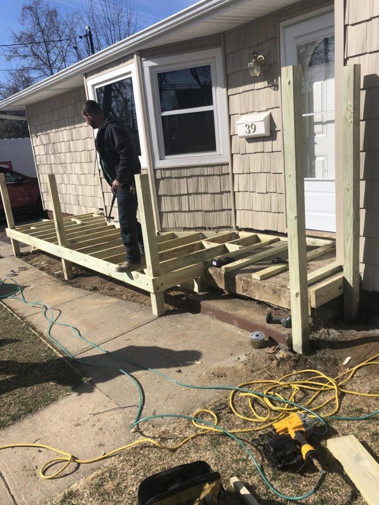 Deck Installation Before