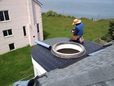 Skylight Repair by Sunrise Roofing and Chimney Skylight Specialist in Orient Point, NY