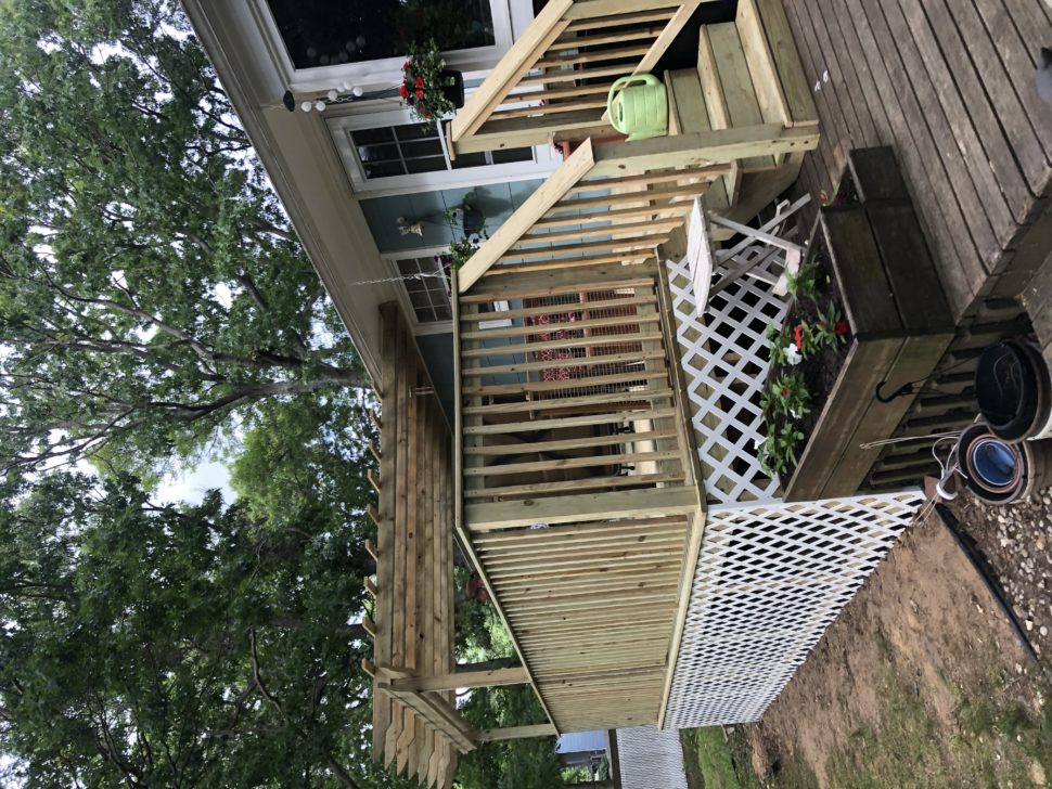 Deck Pergola Installation